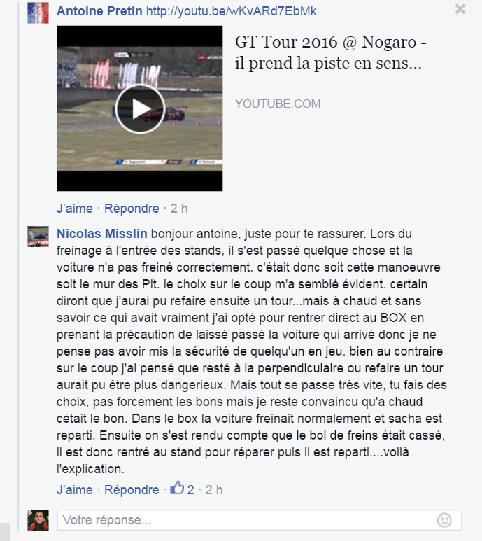 message Facebook GT Tour Nicolas Misslin