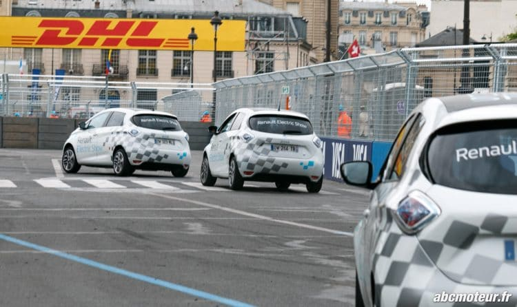 hot lap Renault Zoe Formule E Paris 2016-2