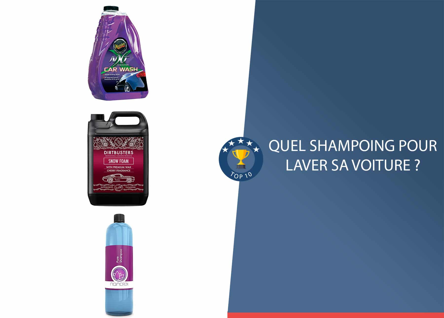 Quel shampoing pour nettoyer sa voiture ?